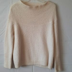 Zara knit sweater crop off-white size small Y117
